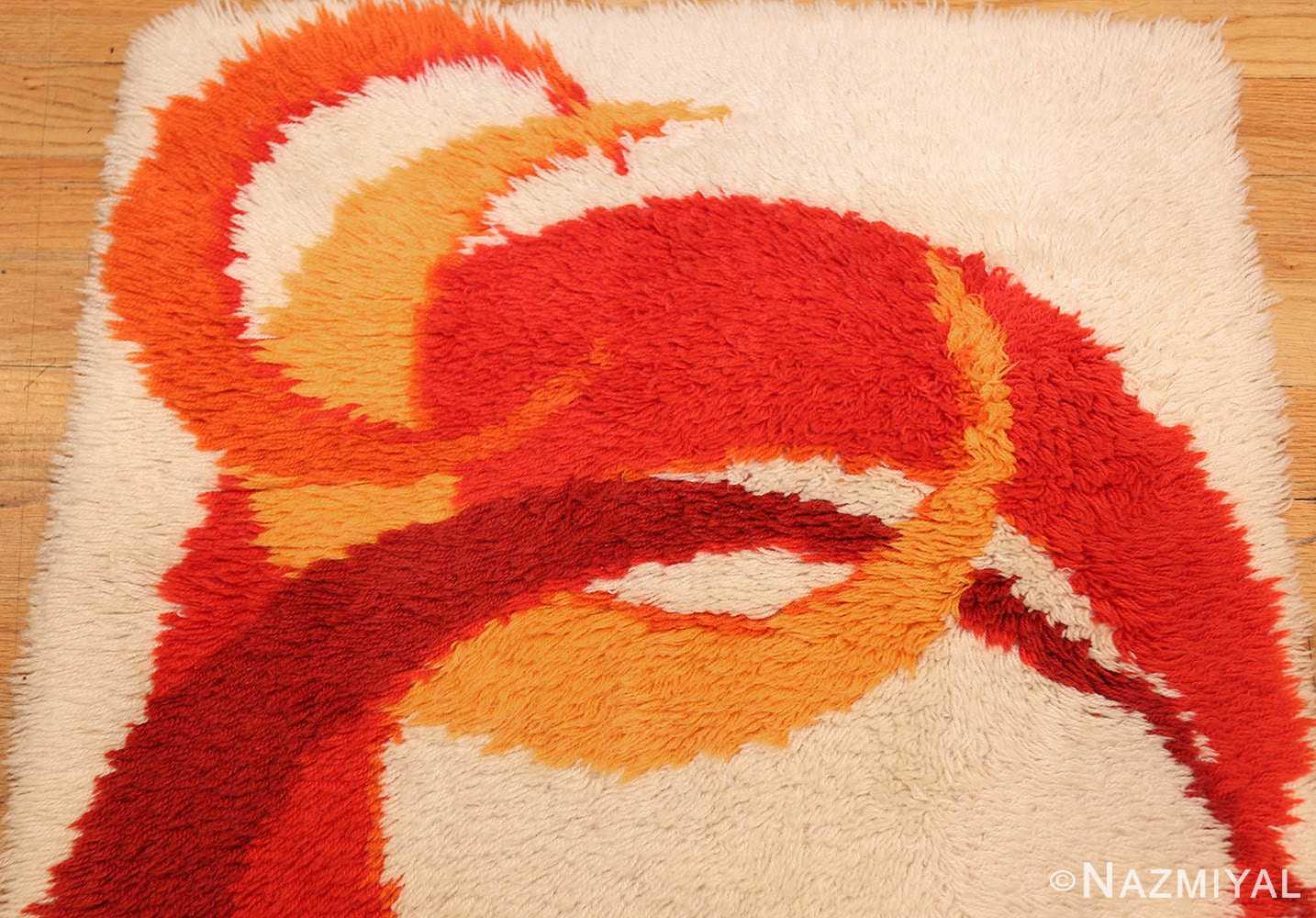vintage swedish deco rug 46609 crescent Nazmiyal