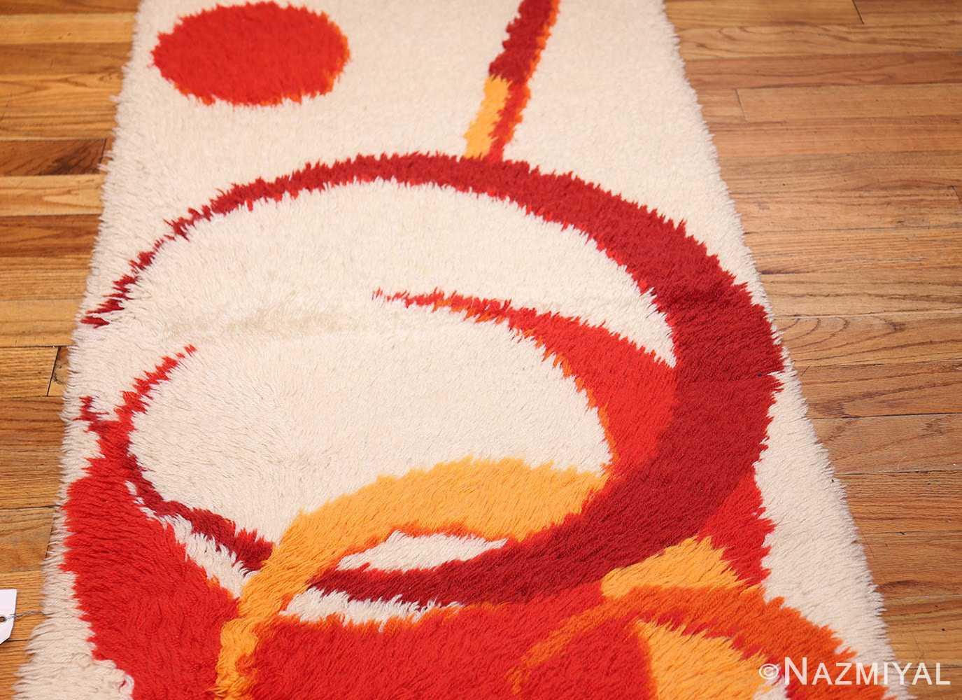 vintage swedish deco rug 46609 field Nazmiyal