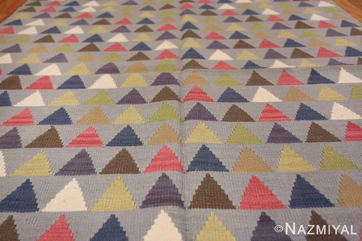 vintage swedish kilim 46589 field Nazmiyal
