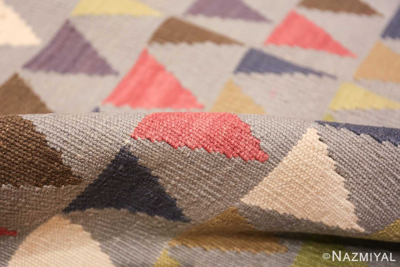 vintage swedish kilim 46589 pile Nazmiyal