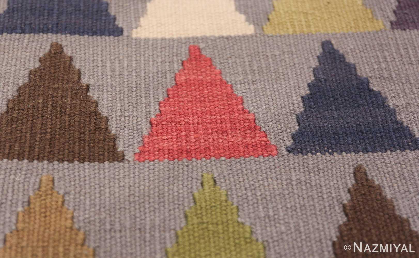 vintage swedish kilim 46589 triangle Nazmiyal
