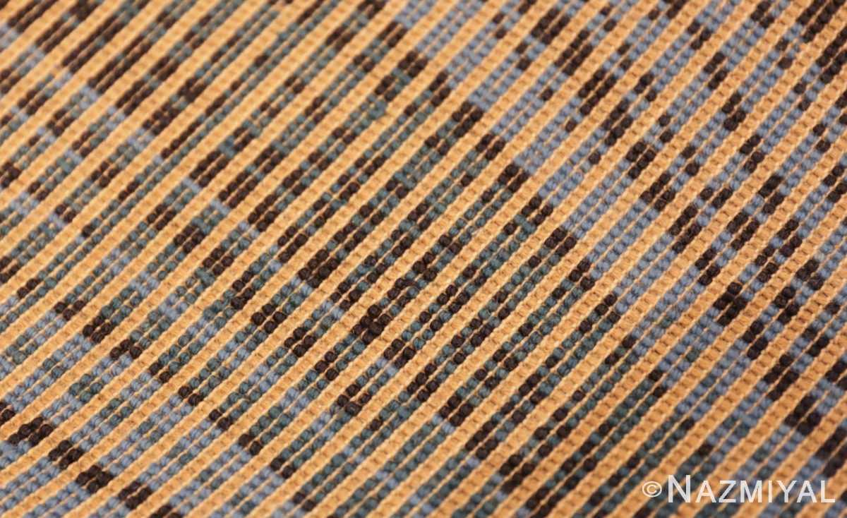 Weave detail vintage Swedish deco rug 46616 by Nazmiyal