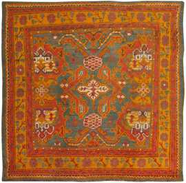 Antique Turkish Oushak Rug 46697 Detail/Large View