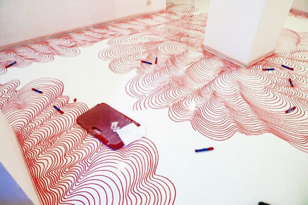 DIY Drawing Marker Floor Covering by Nazmiyal