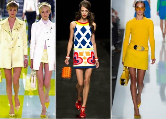 NYC Fashion Week Runway Models Wearing Sixties Inspired Fashion by Nazmiyal