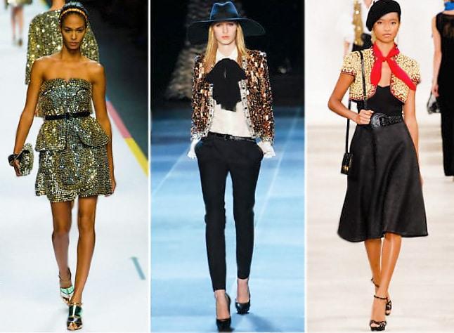 Runway Models Wearing Sequin at Fashion Week NYC by Nazmiyal