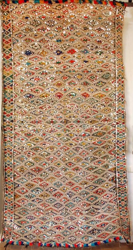 A Sequin Vintage Kilim Rug by nazmiyal
