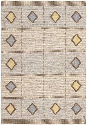 Vintage Swedish Kilim Rug by Nazmiyal