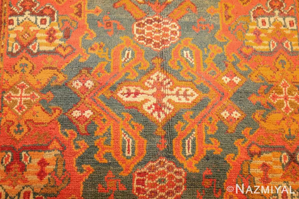 antique turkish oushak rug 46697 field Nazmiyal