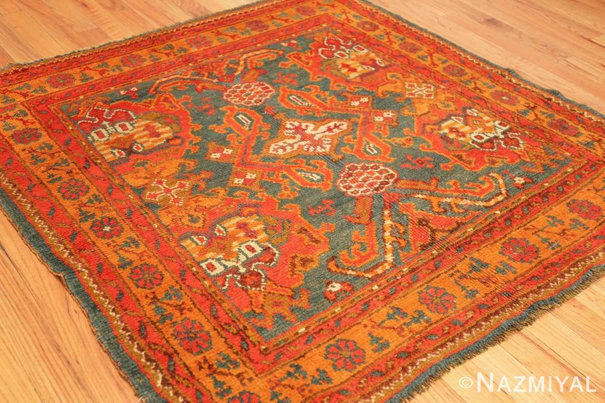 antique turkish oushak rug 46697 side Nazmiyal
