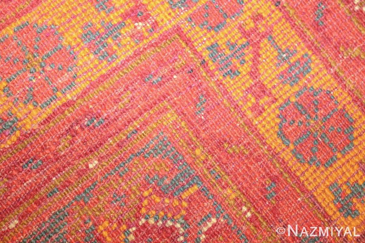 antique turkish oushak rug 46697 weave Nazmiyal