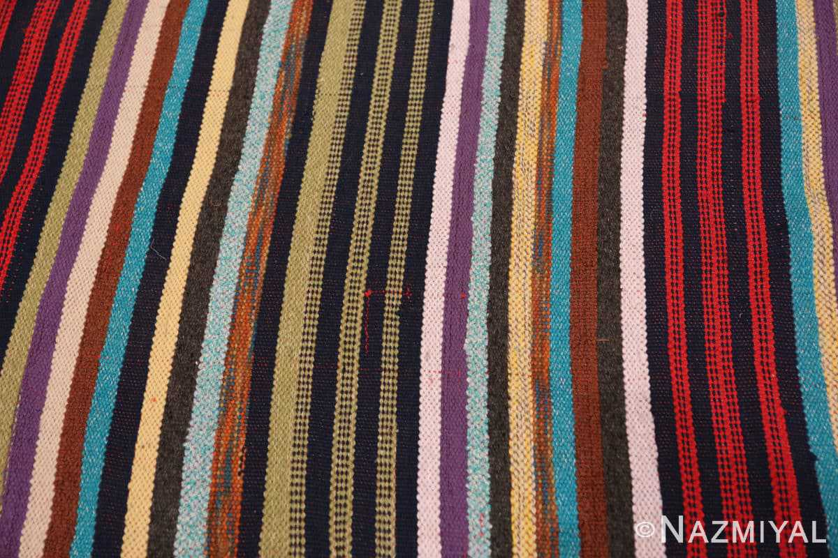 Background Vintage Swedish rag rug 46662 by Nazmiyal
