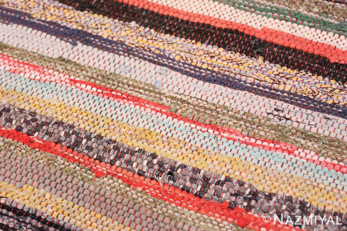 Background Vintage Swedish rag rug 46670 by Nazmiyal