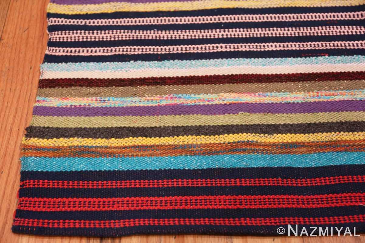 Corner Vintage Swedish rag rug 46662 by Nazmiyal