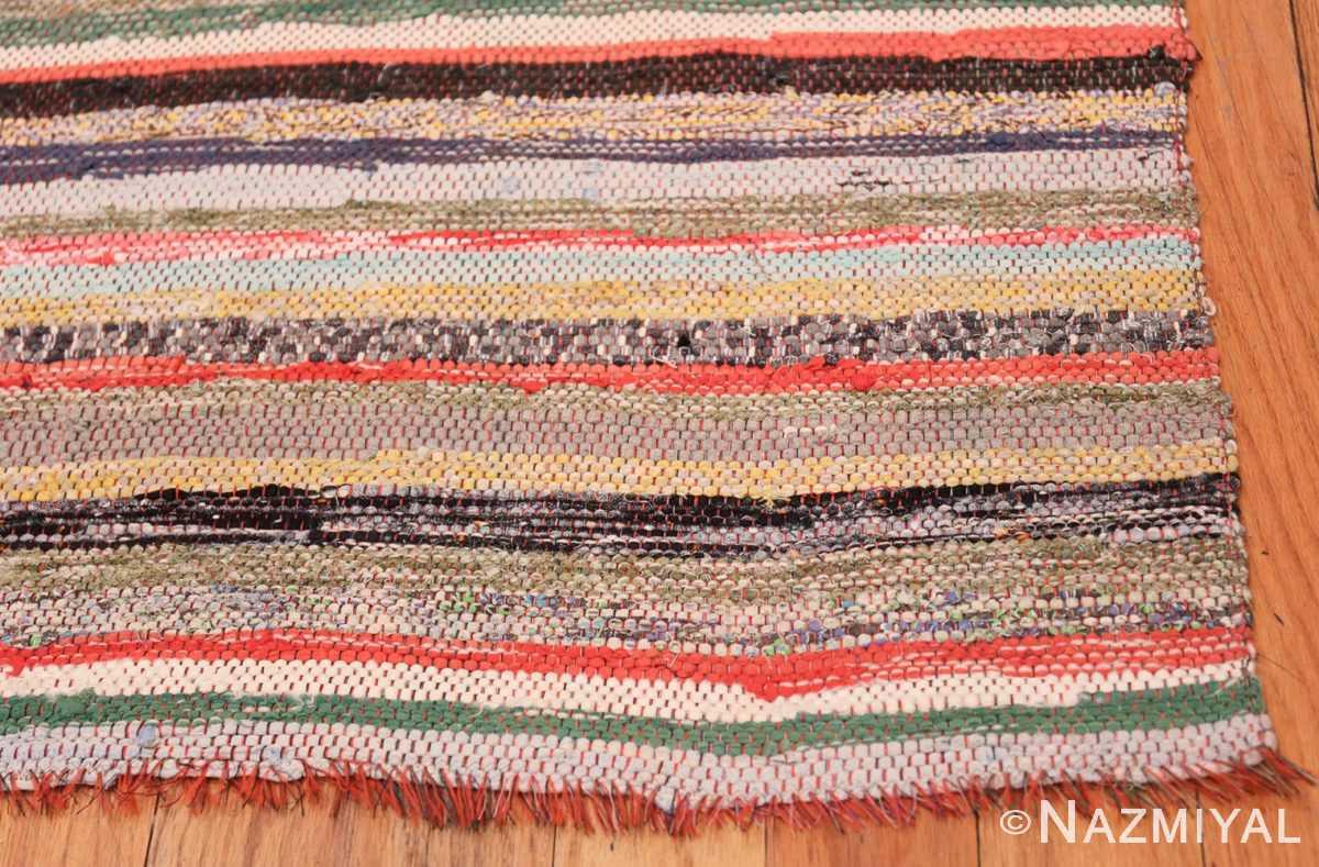 Corner Vintage Swedish rag rug 46670 by Nazmiyal