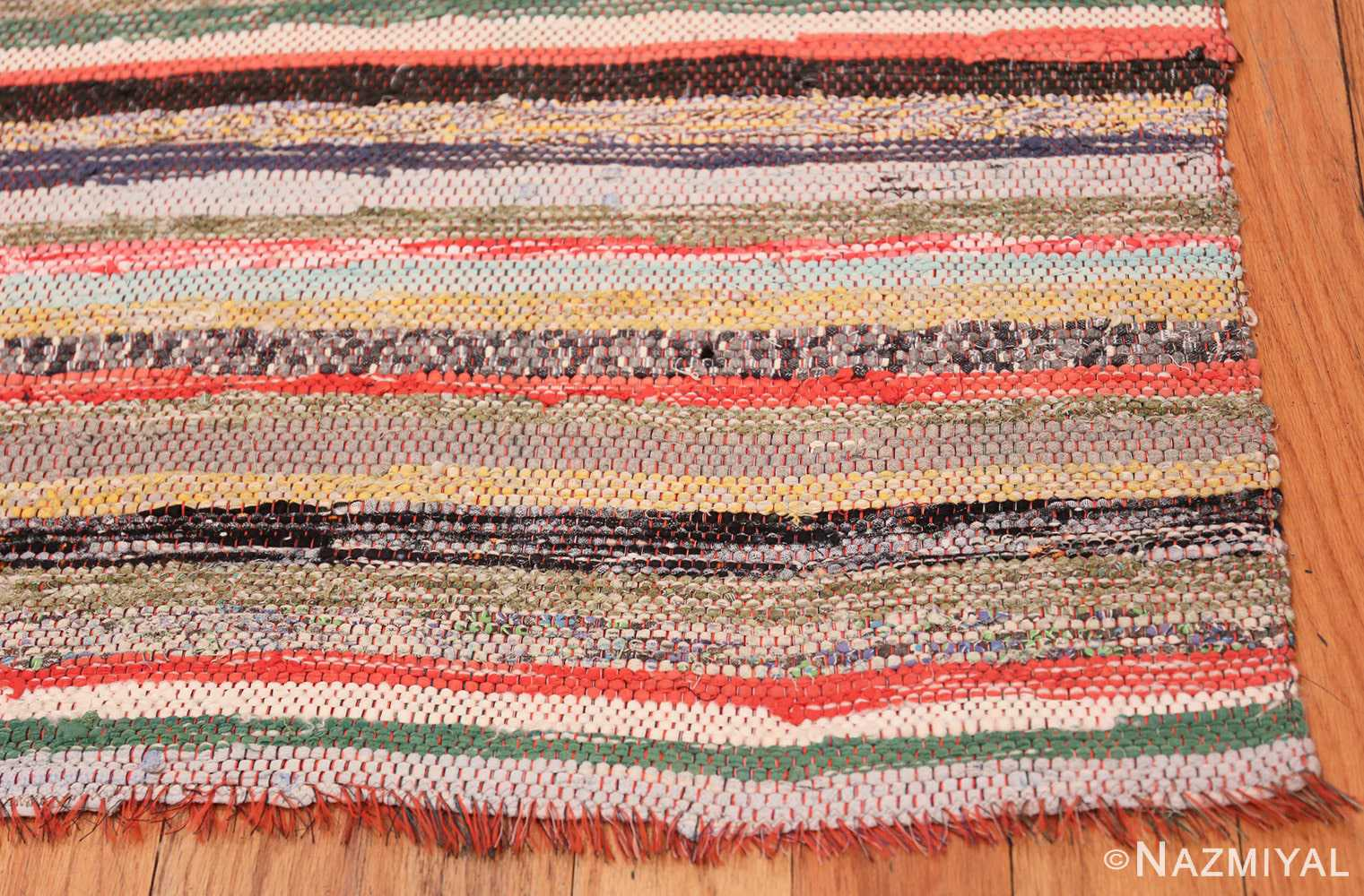 Vintage Swedish Rag Rug 46670 Nazmiyal