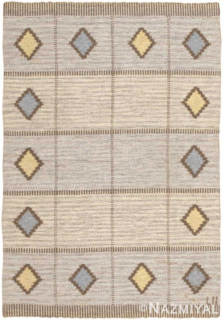 Vintage Swedish Kilim 46680 Detail/Large View