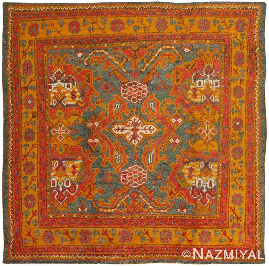 Antique Turkish Oushak Rug 46697 Detail/Large View