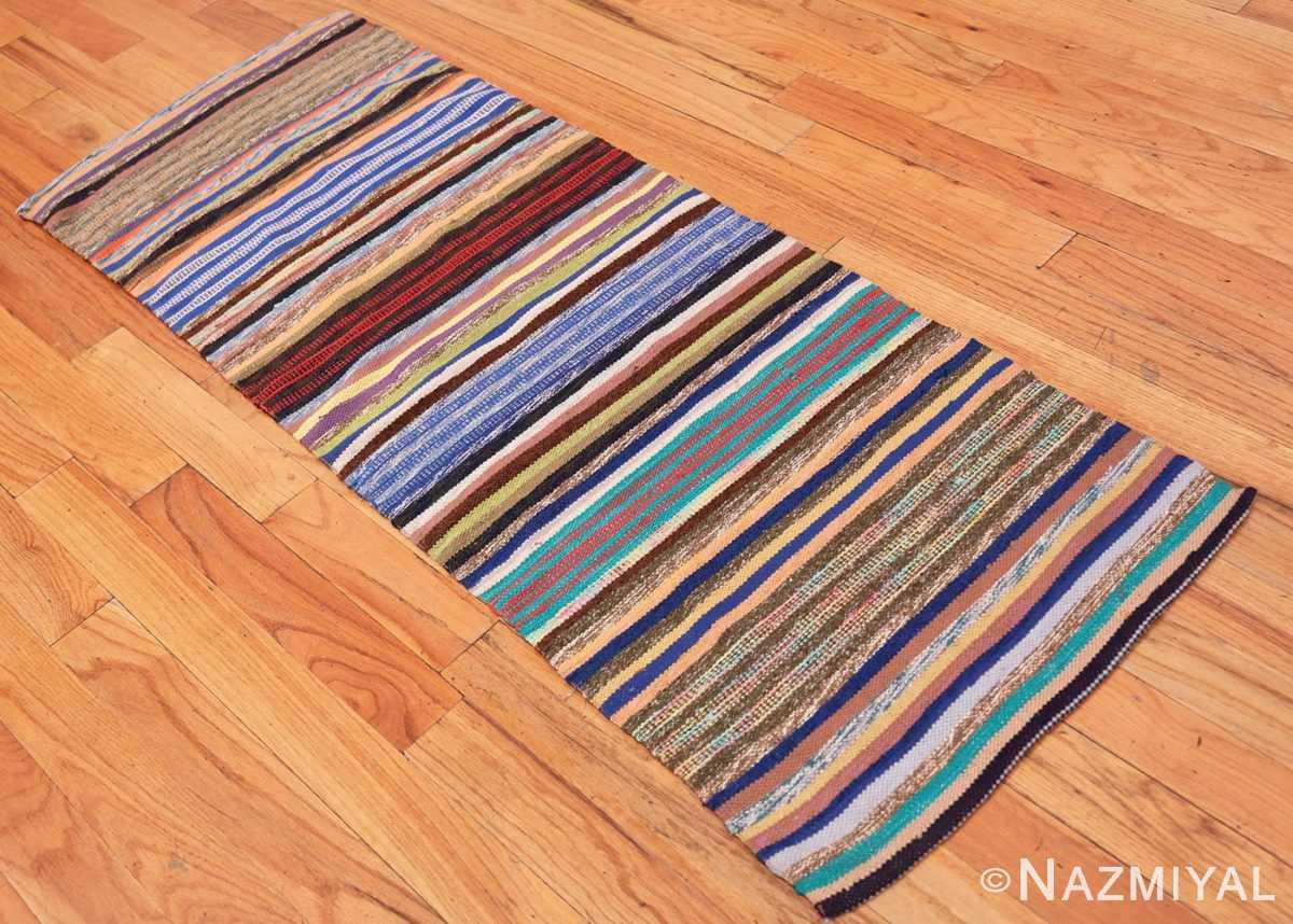 Full Vintage Scandinavian Swedish rag rug 46665 by Nazmiyal