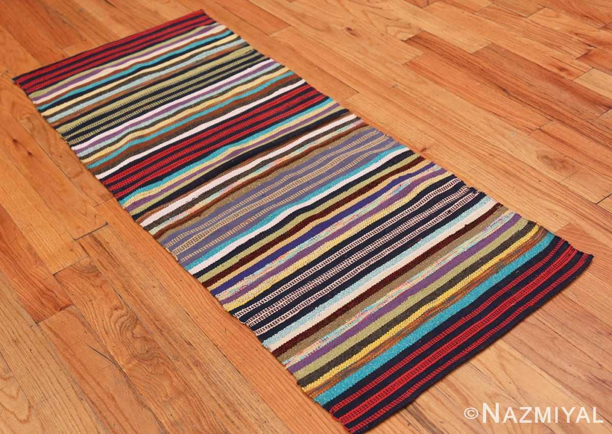 Full Vintage Swedish rag rug 46662 by Nazmiyal