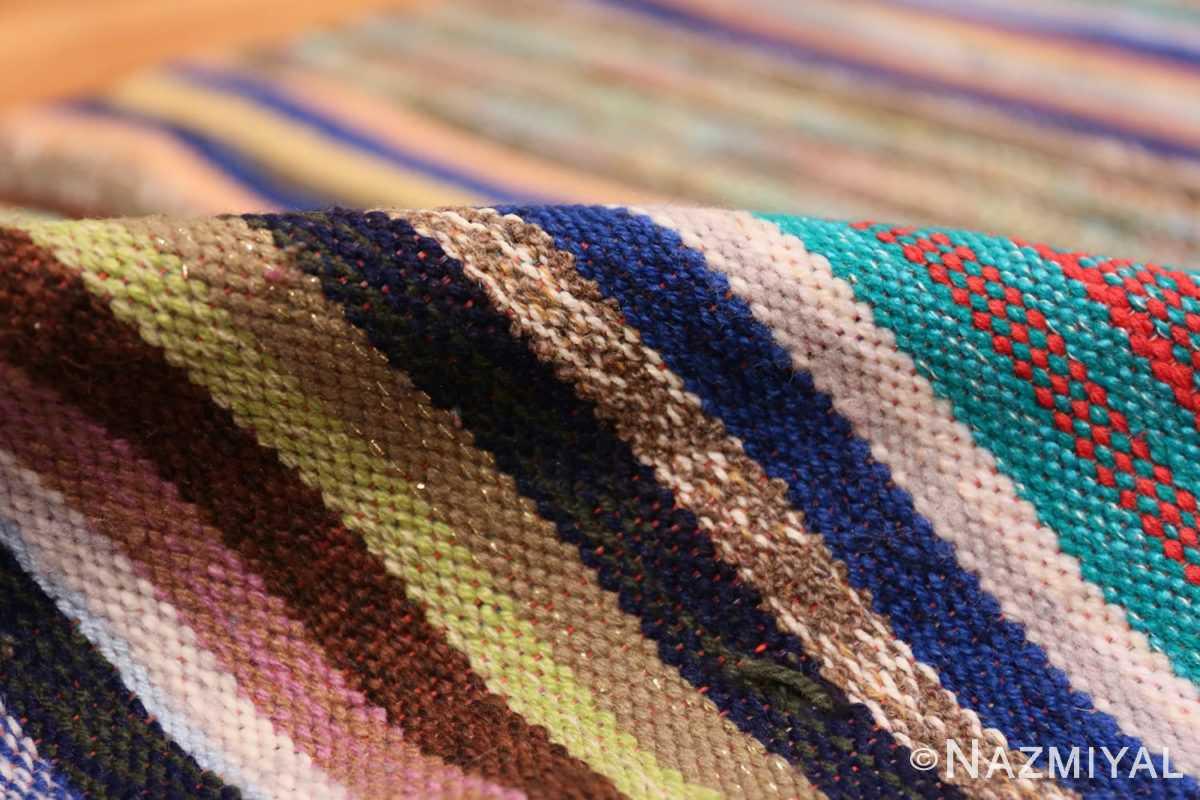 Pile Vintage Scandinavian Swedish rag rug 46665 by Nazmiyal