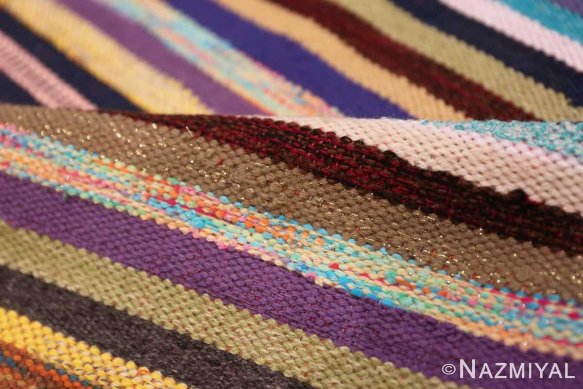 Pile Vintage Swedish rag rug 46662 by Nazmiyal