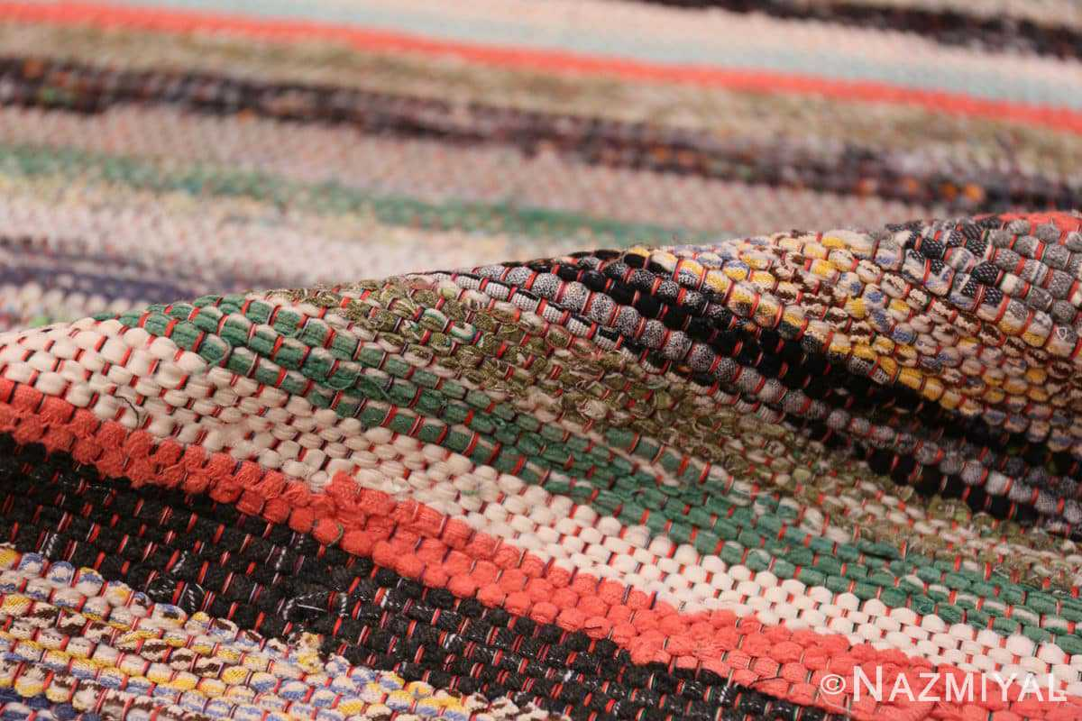 Pile Vintage Swedish rag rug 46670 by Nazmiyal