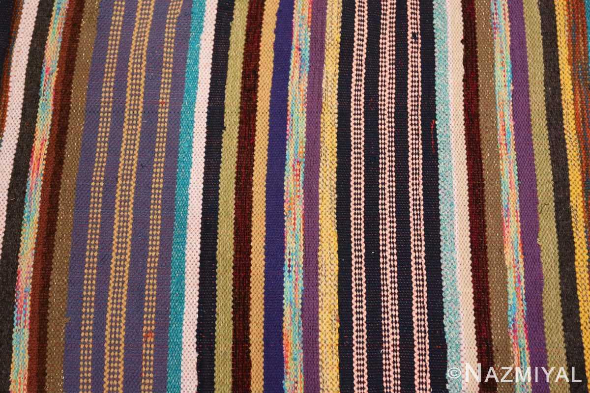 Stripe Vintage Swedish rag rug 46662 by Nazmiyal