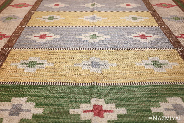 vintage swedish kilim 46700 field Nazmiyal