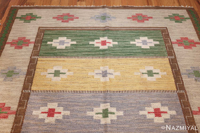 vintage swedish kilim 46700 top Nazmiyal
