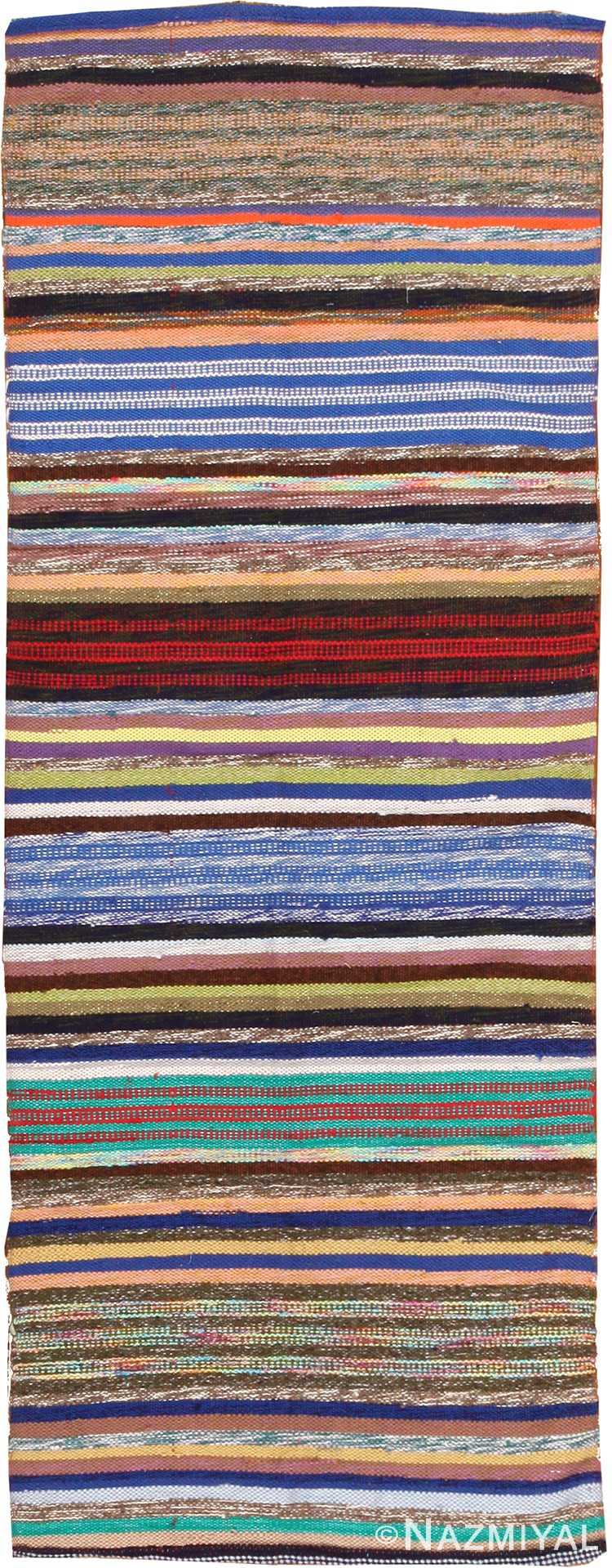 vintage swedish rag rug 46665 Nazmiyal