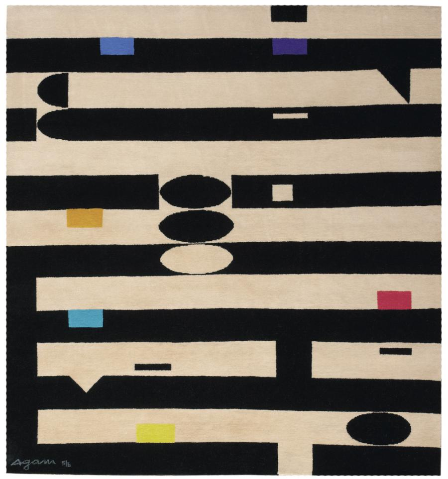 Mid-Century Agam Carpet from Israel