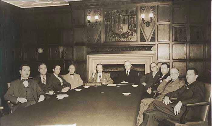 Hajji Baba Club Meeting Circa 1940 - Nazmiyal