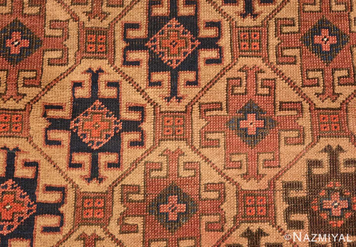 antique persian baluch rug 46449 closeup Nazmiyal