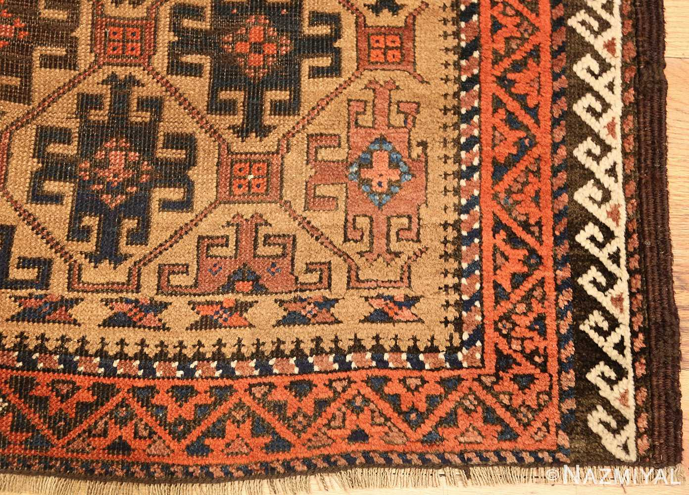 antique persian baluch rug 46449 corner Nazmiyal