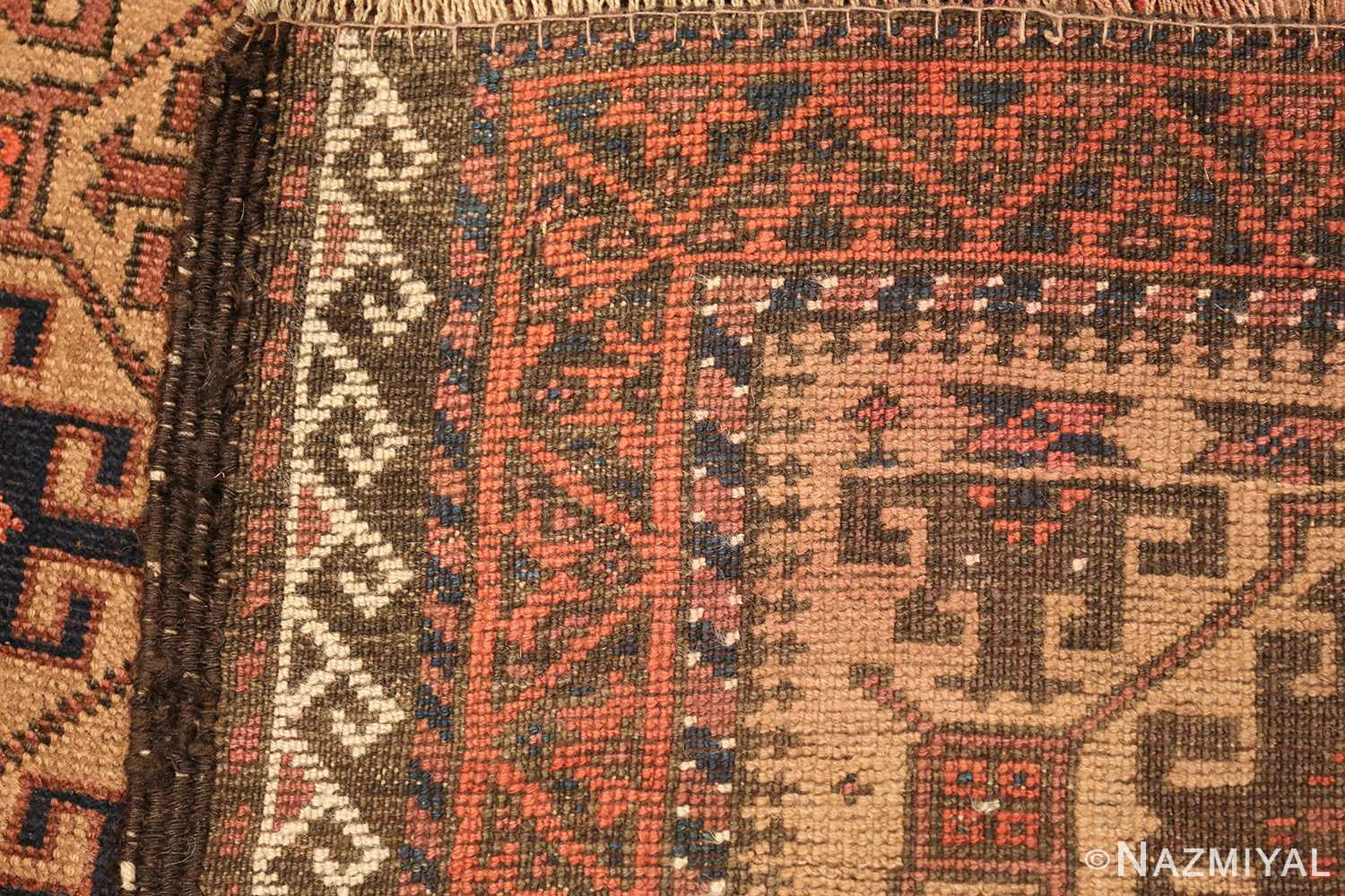 antique persian baluch rug 46449 weave Nazmiyal