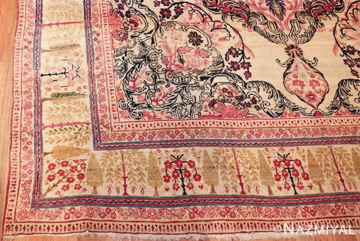antique persian kerman rug 46655 corner Nazmiyal