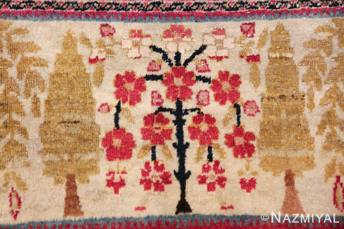 antique persian kerman rug 46655 flower Nazmiyal