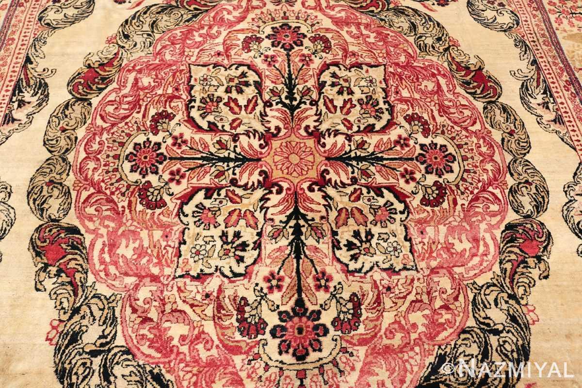 antique persian kerman rug 46655 medallion