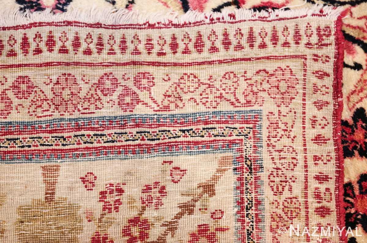 antique persian kerman rug 46655 weave Nazmiyal