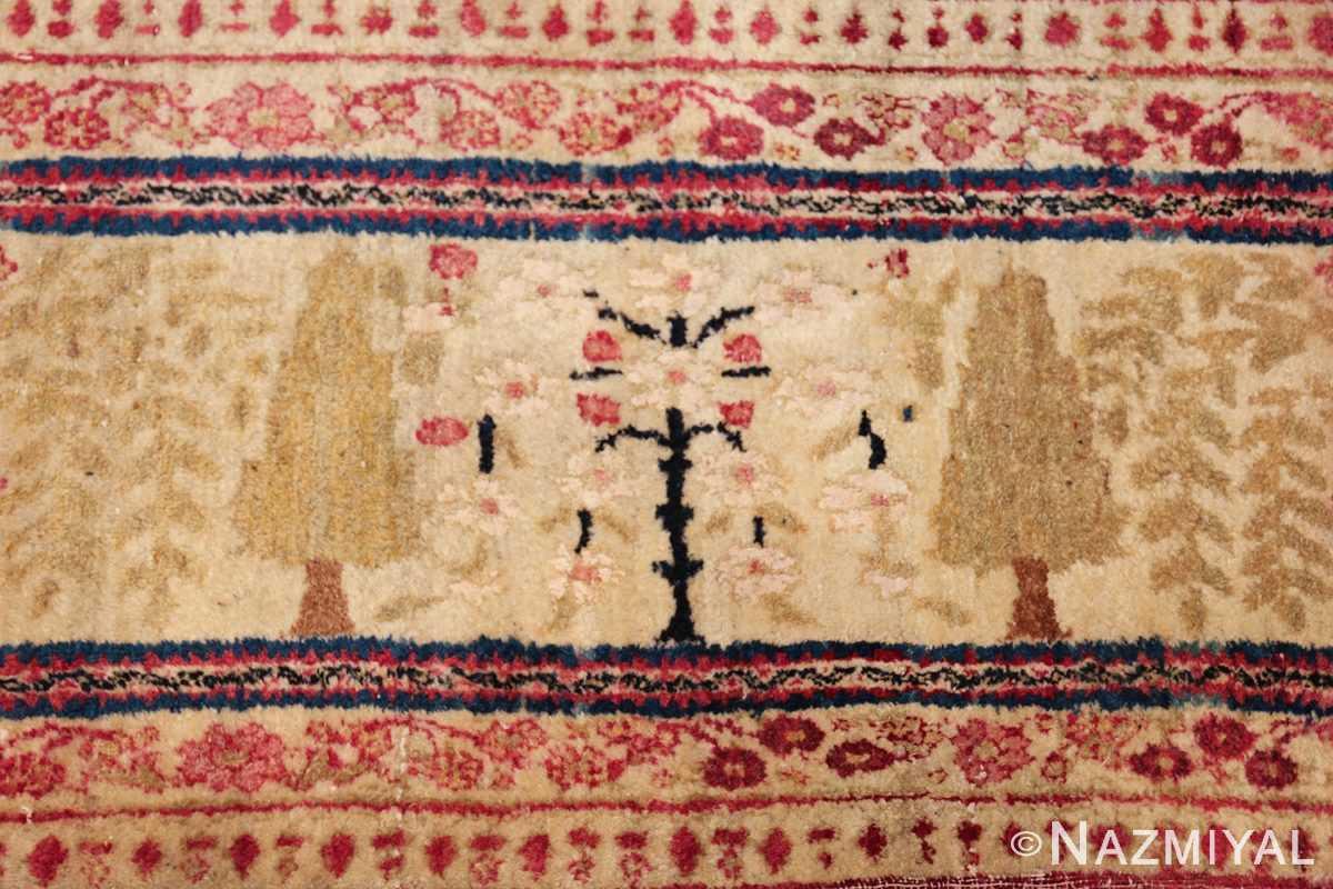 antique persian kerman rug 46655 white bloom Nazmiyal