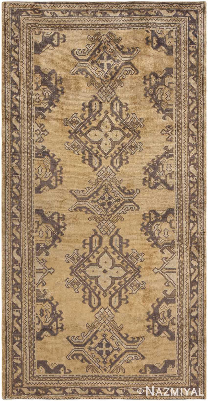 Antique Oushak Turkish Rug 46585 Large Image