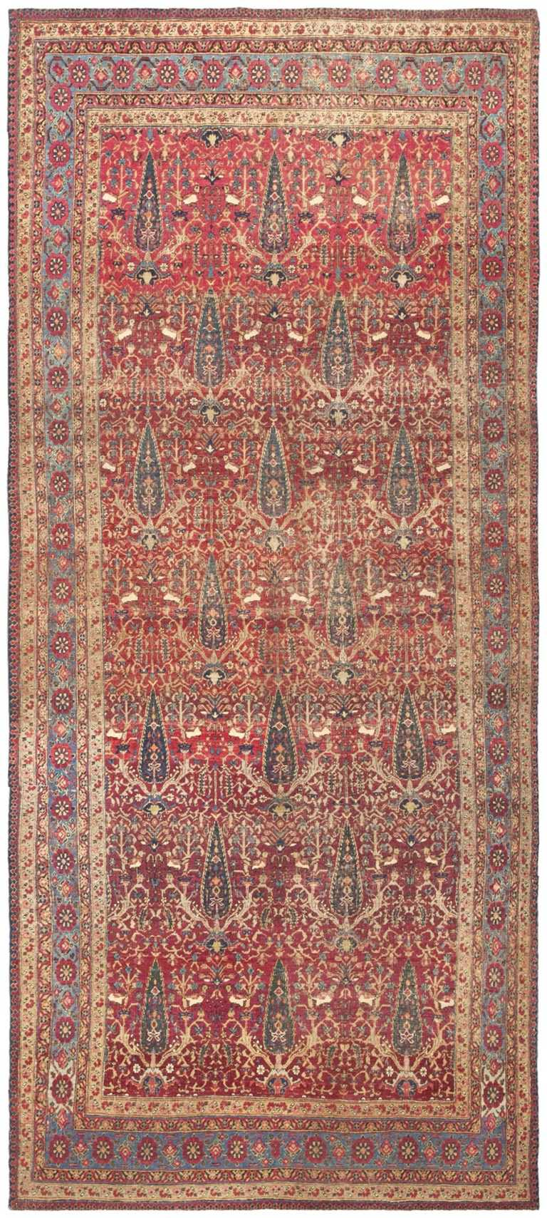 Antique Kerman Persian Rug 46637 Large Image