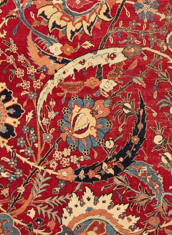 Detail of $2 million rug Nazmiyal