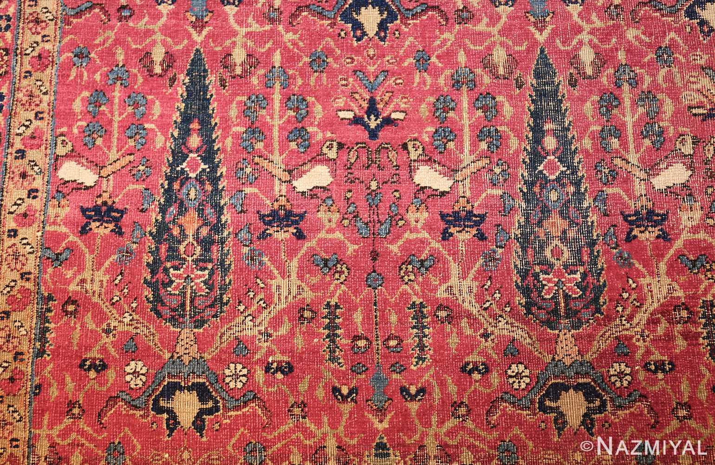 antique kerman persian rug 46637 birds Nazmiyal