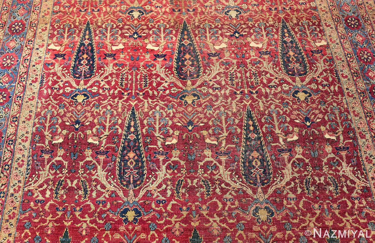 antique kerman persian rug 46637 field Nazmiyal