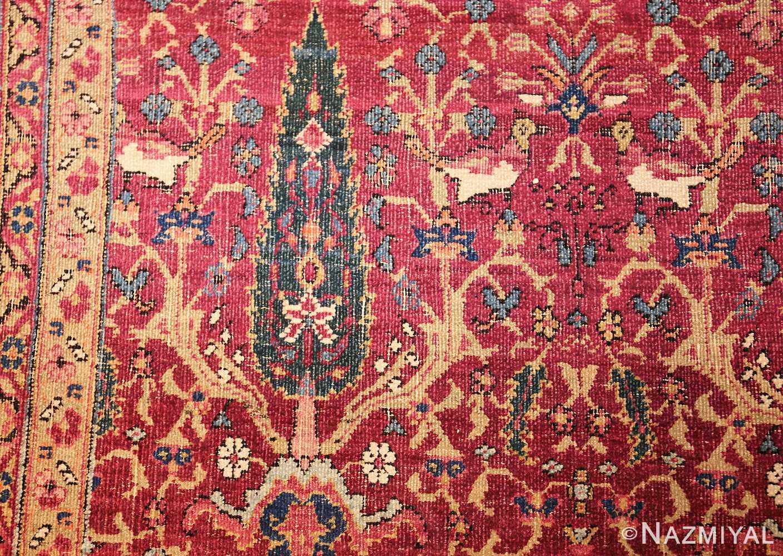 antique kerman persian rug 46637 pine Nazmiyal