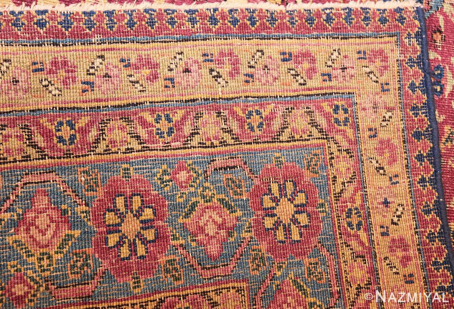antique kerman persian rug 46637 weave Nazmiyal