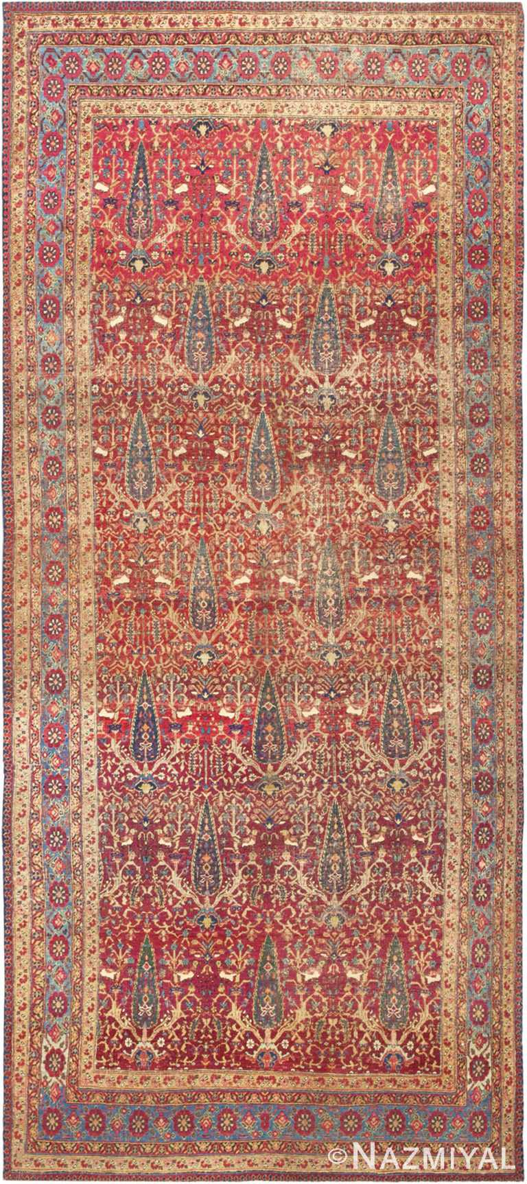 Antique Persian Kerman Cypress Tree Rug #46637 by Nazmiyal Antique Rugs