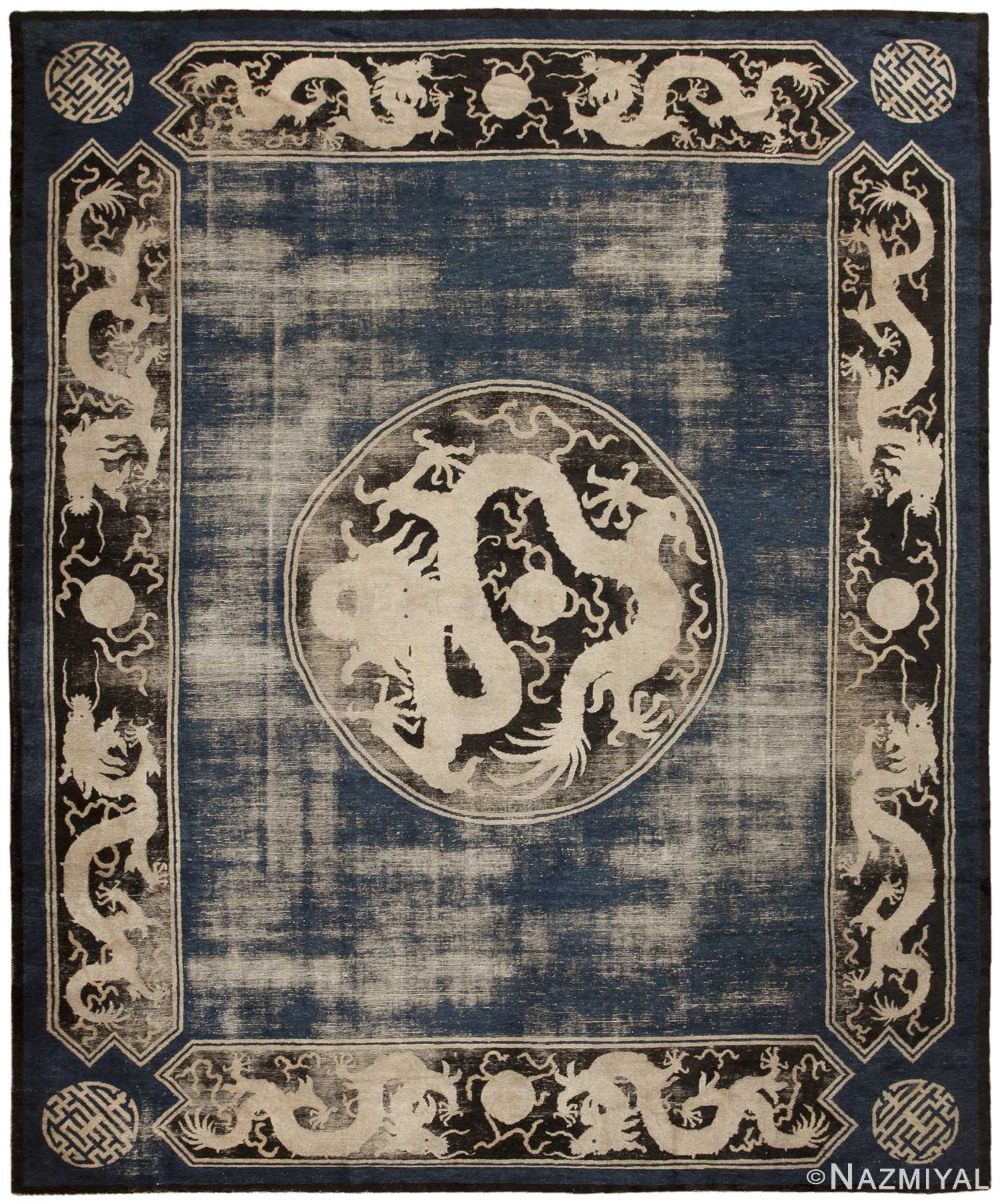 Antique Chinese Rug: Antique Ningsia Carpet From China 467087 By Nazmiyal